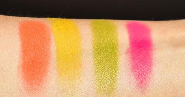Melt Cosmetics Radioactive Eyeshadow Stack - Swatch
