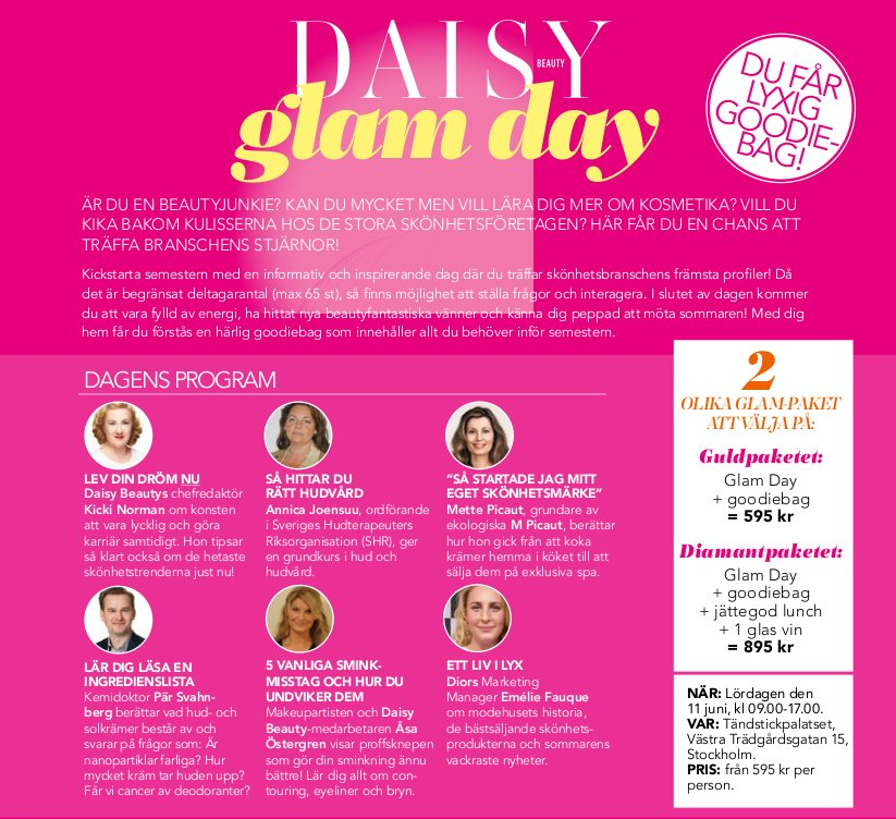 Daisy Beauty Glam Day