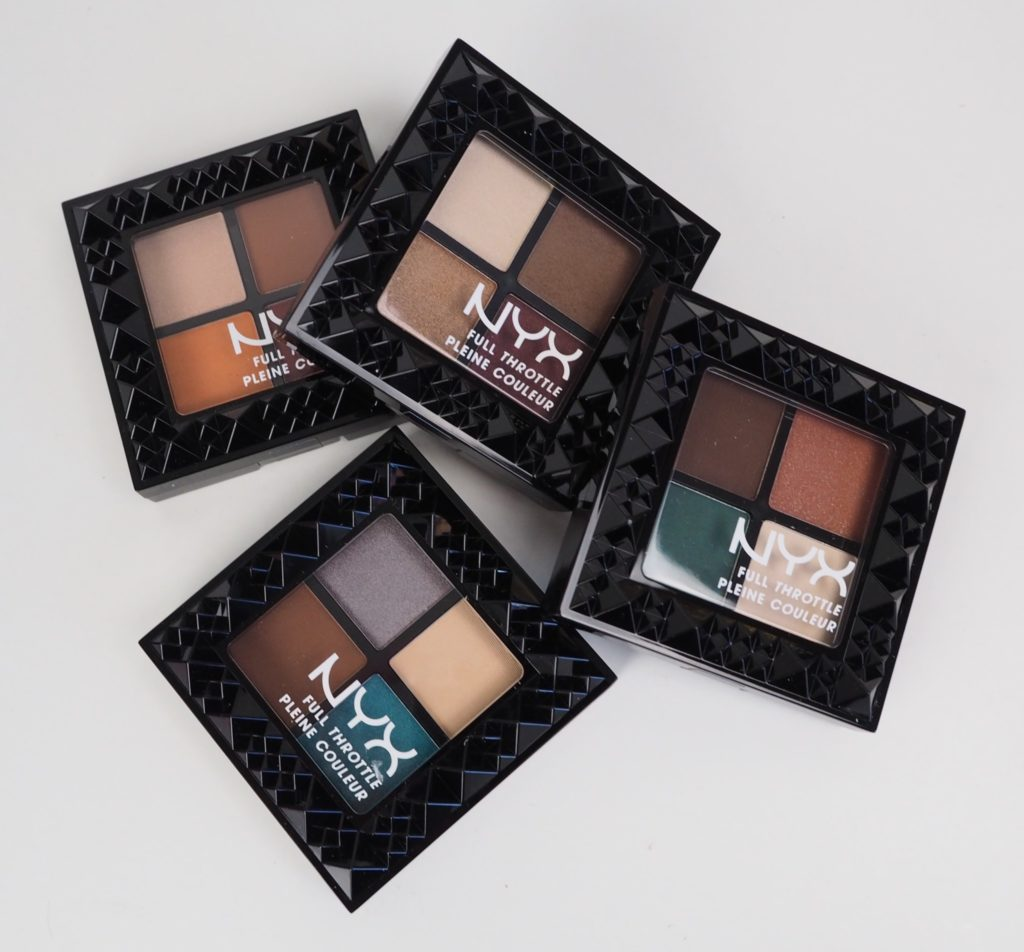 Nyx Full Throttle Eyeshadow palettes