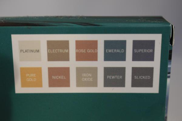Models own Colour Chrome palette