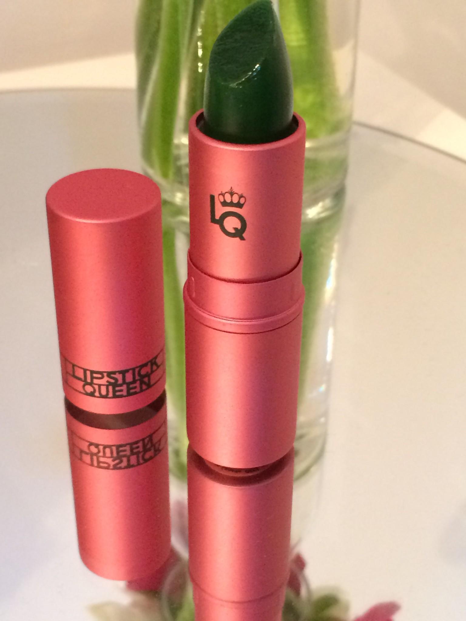 grönt läppstift som ändrar färg