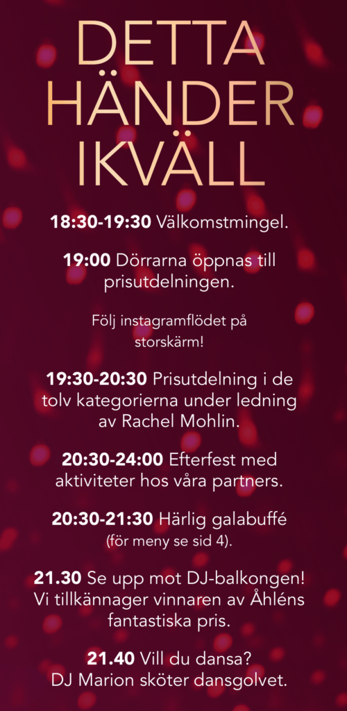 Daisy Beayty Awards – Kvällens program