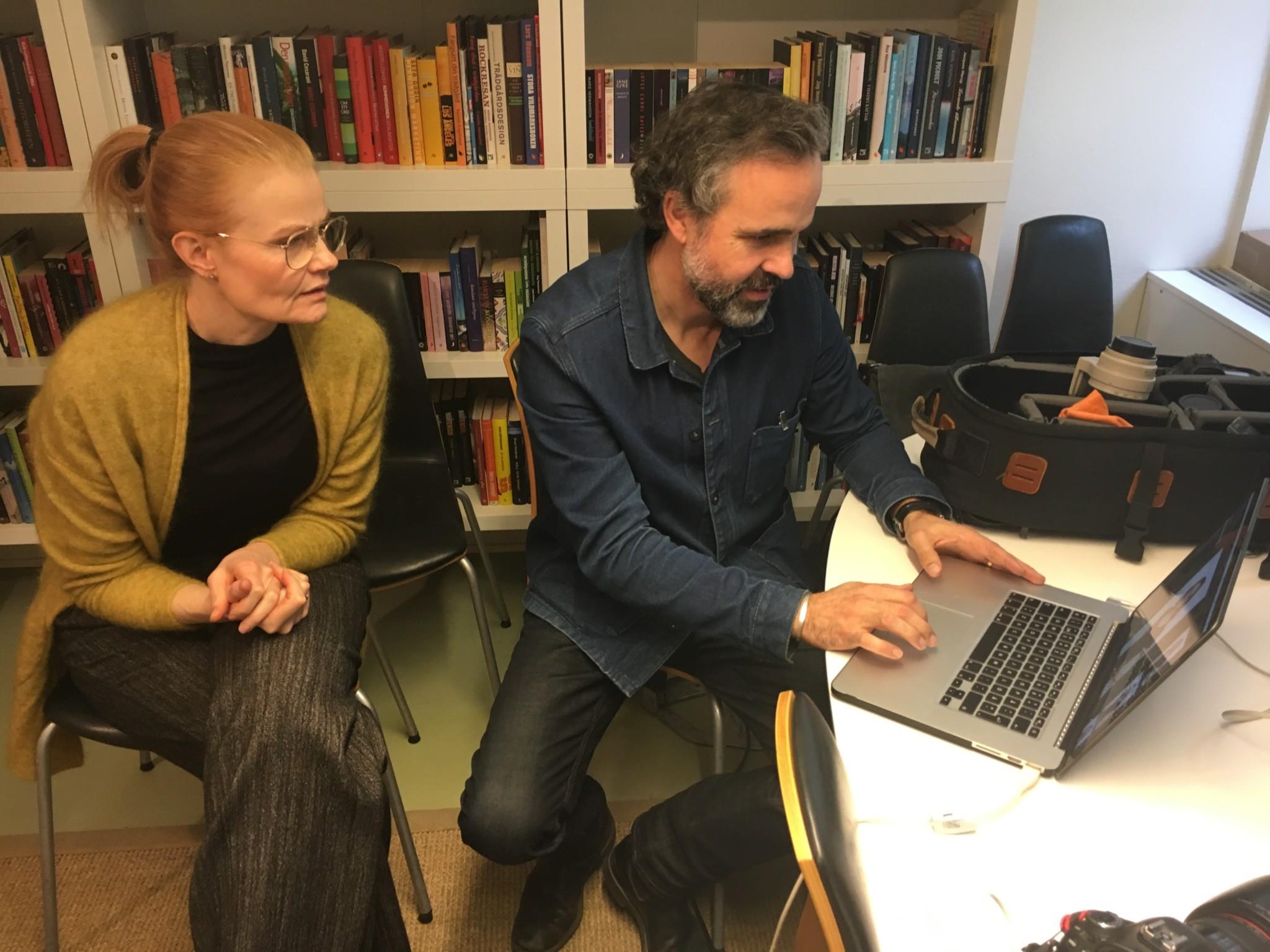 Vår frilansredaktör Eva Gussarsson, alltid i farten.