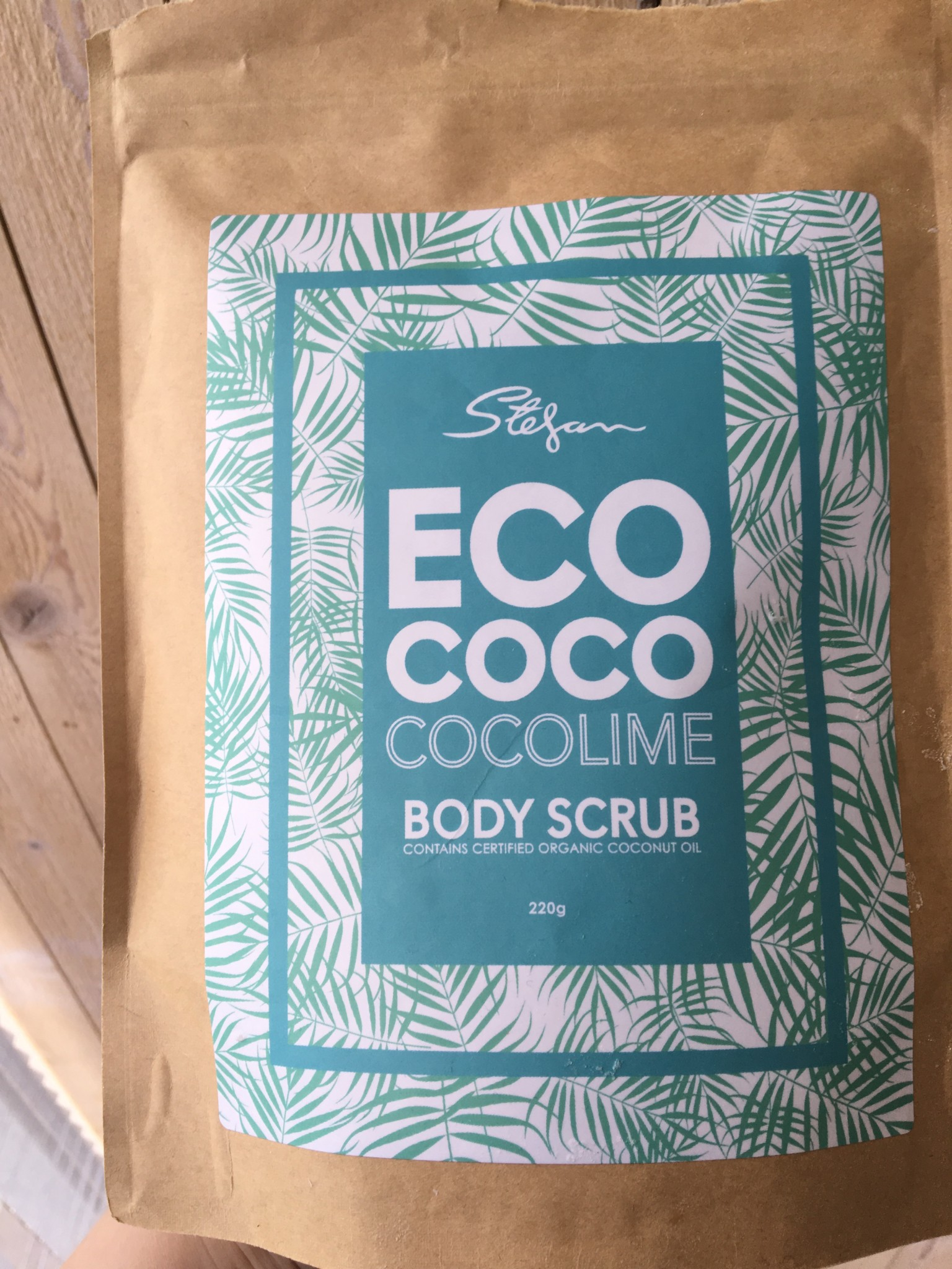 EcoCoco body scrub coconut lime