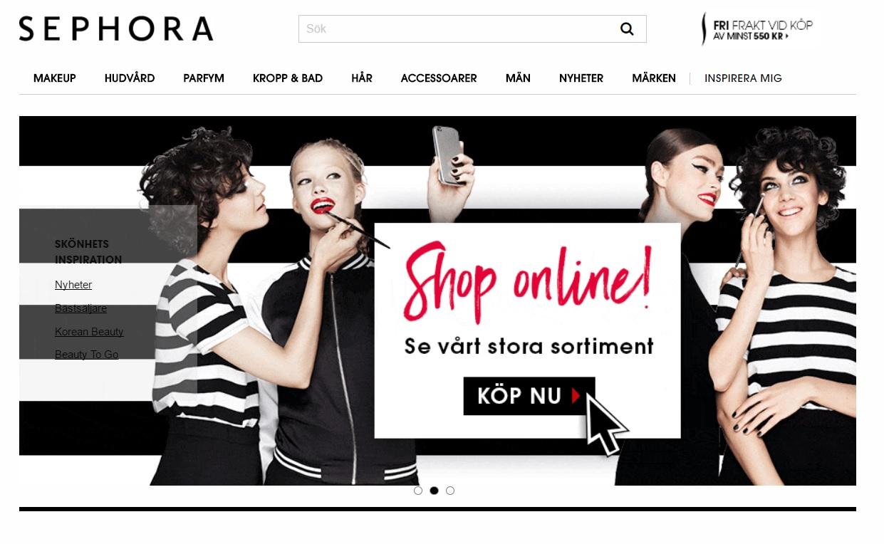 Sephoras webshop är äntligen här!