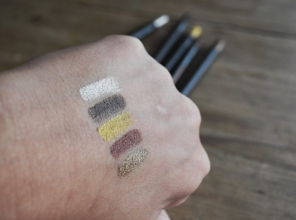 Linda Hallbergs Cosmetics Flash Crayons Rustic kit swatches