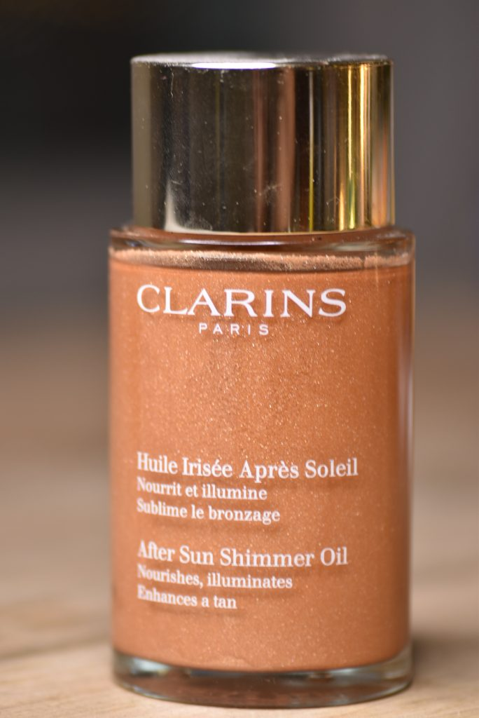 Clarins After Sun Shimmer Oil på semester