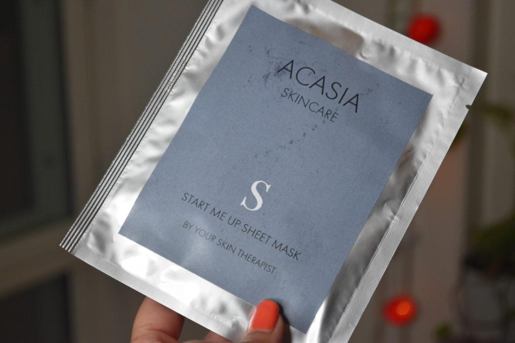 Acasia Skincare Start Me Up Sheetmask
