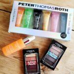 minipaletter från L'Oréal Paris mask kit Peter Thomas Roth och Lumene Valo Glow Boost Essence