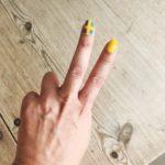 Heja Sverige friskt humör gulblå lackning