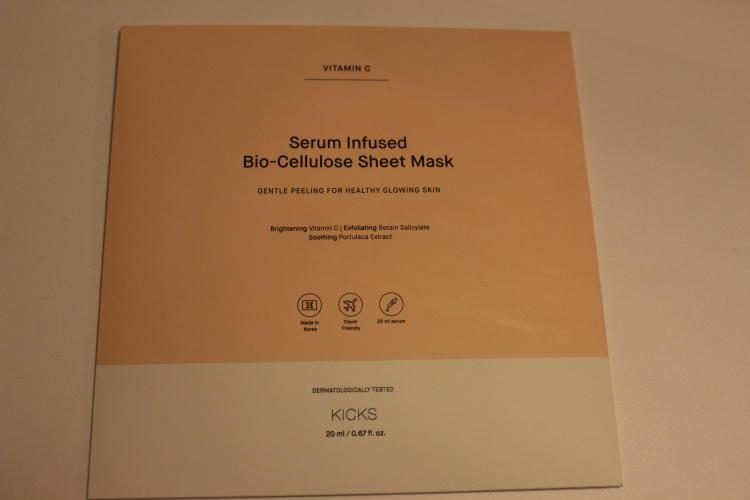 Kicks beauty vitamin c sheet mask