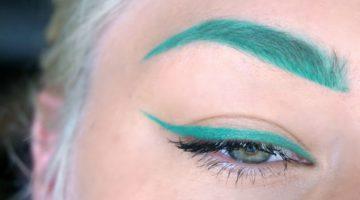 gröna bryn med Kat Von D