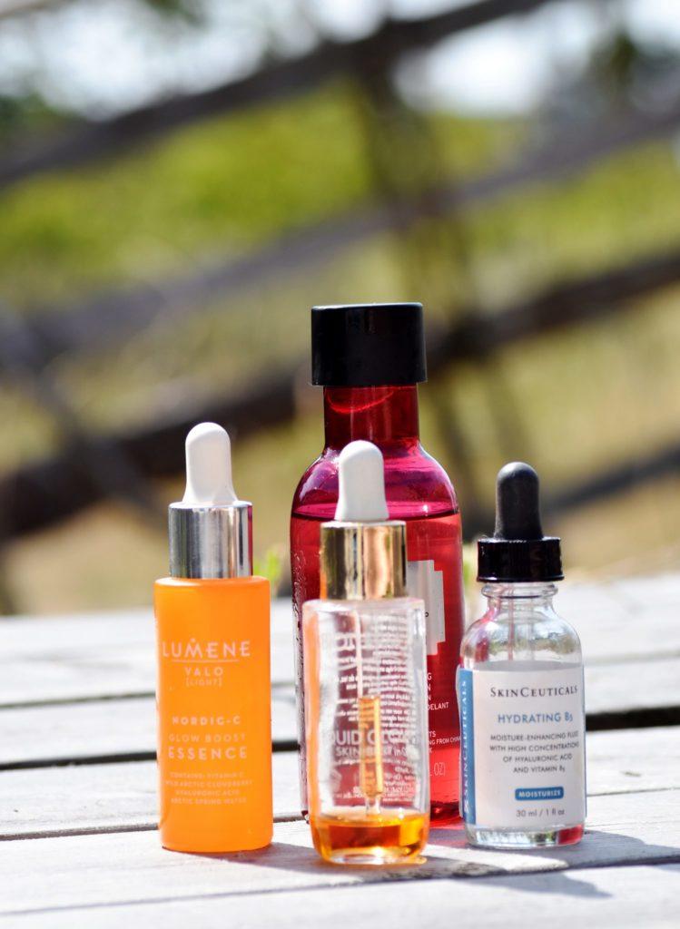konsistensen på essensen spelar roll, Lumene, Body Shop, Biotherm, Skinceutical