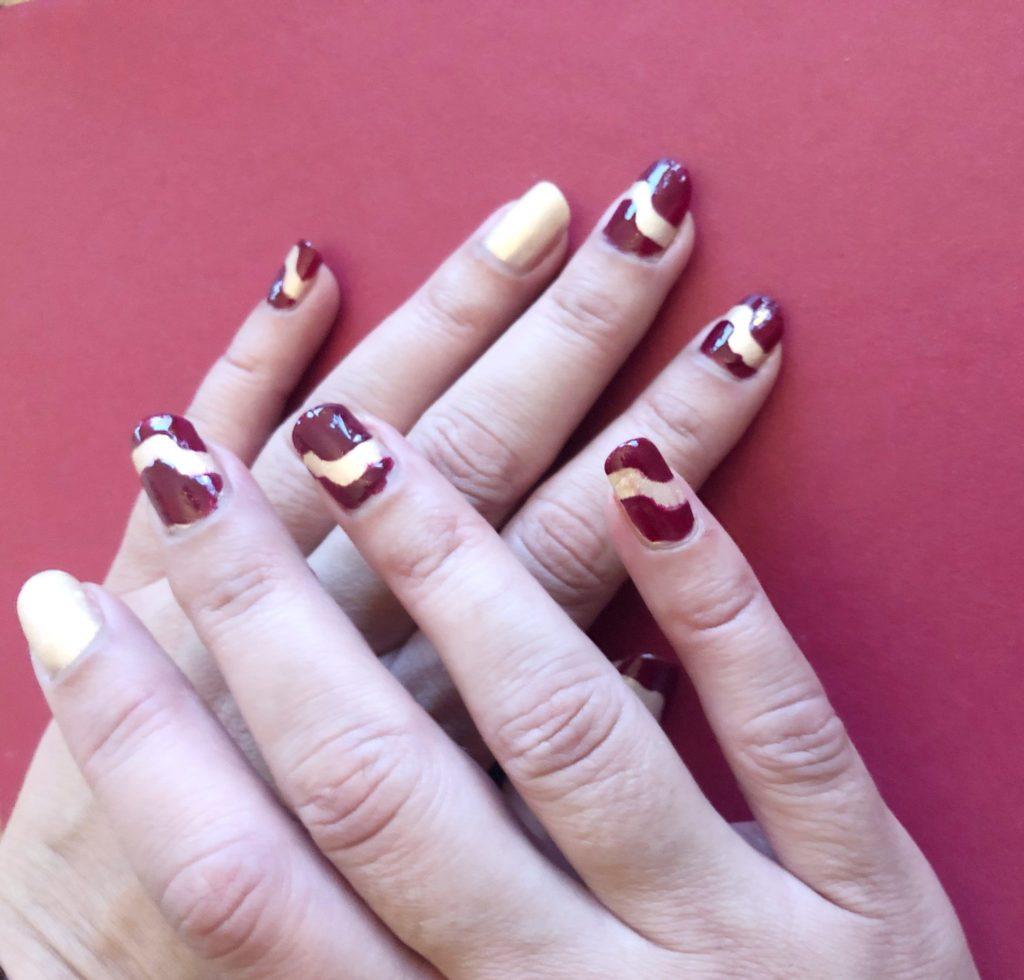 nagelkonst för att pimpa dassigt nagellack