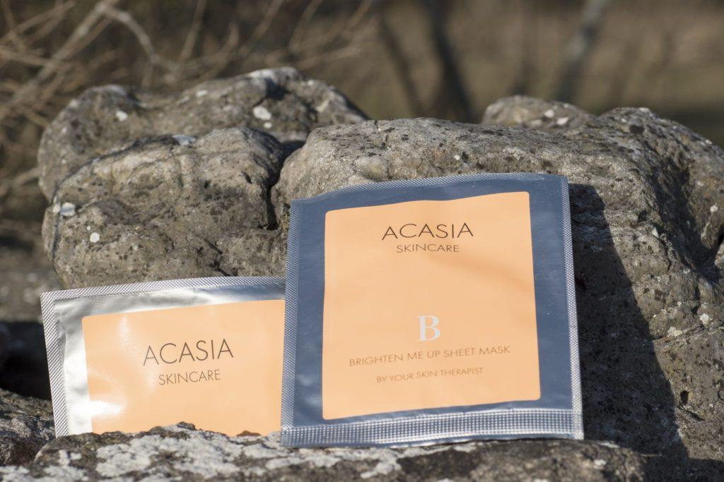 arkmasker från Acasia, Brighten Me Up Sheet Mask