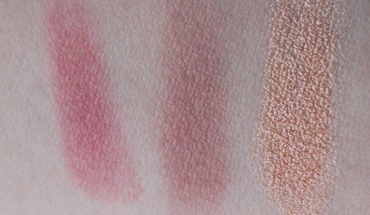 Light up vanity blush palette swatches