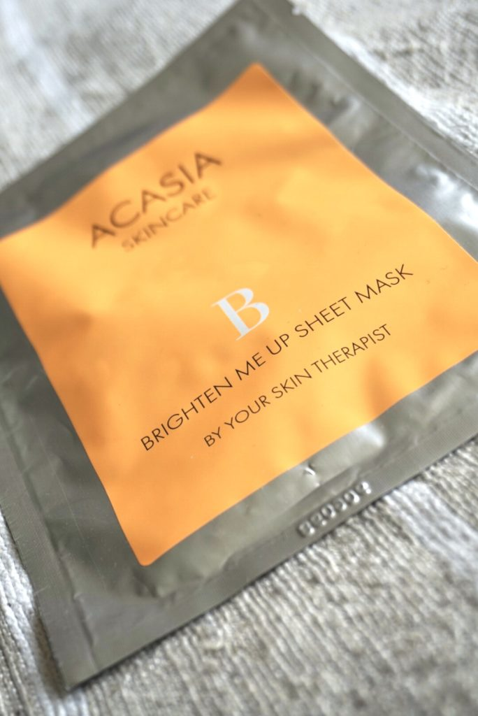 Acasia brighten me up sheet mask
