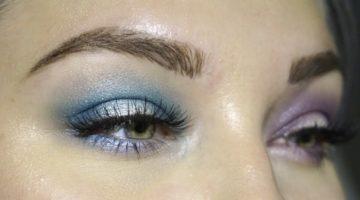 olikfärgad ögonskugga