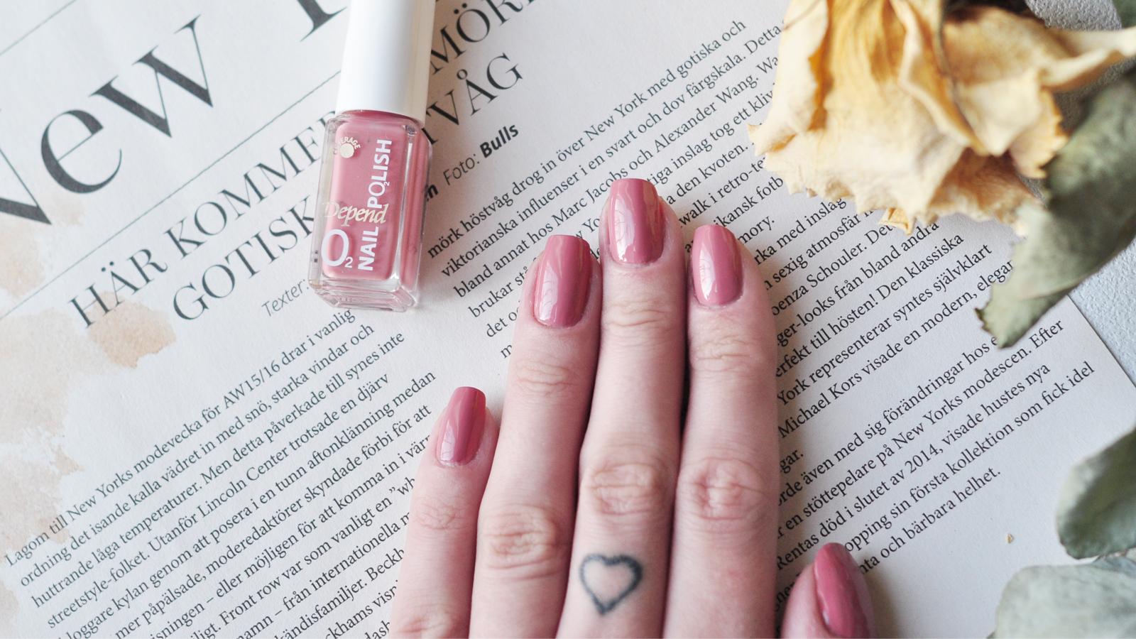 Nymålade naglar