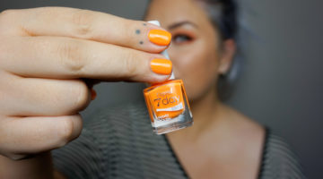 orange nagellack