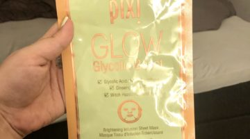 pixi glycolic boost sheet mask