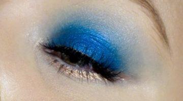 blått och roseguld