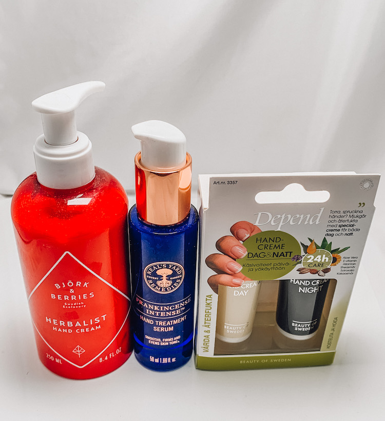 Tre riktigt bra produkter för händerna