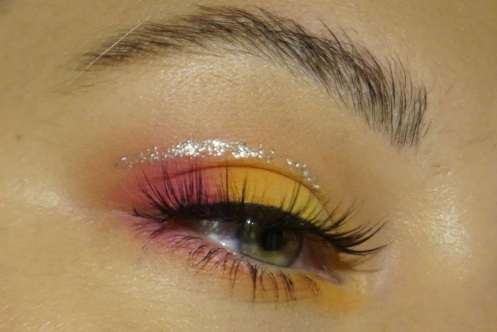 rosa och gul ombre