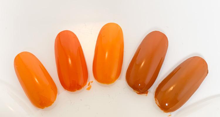 5 orangebruna lackfavoriter