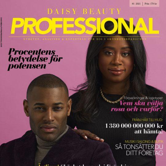 Omslag till Daisy Beauty Professional nr 1/2021 med Roger Dupé och Diarry Maréna