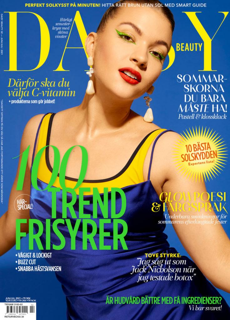 Daisy Beauty nr 2/2021 med Tove Styrke på omslaget