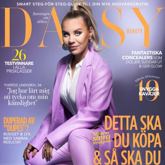 Omslag till Daisy Beauty nr 3/2021 med Therese Lindgren